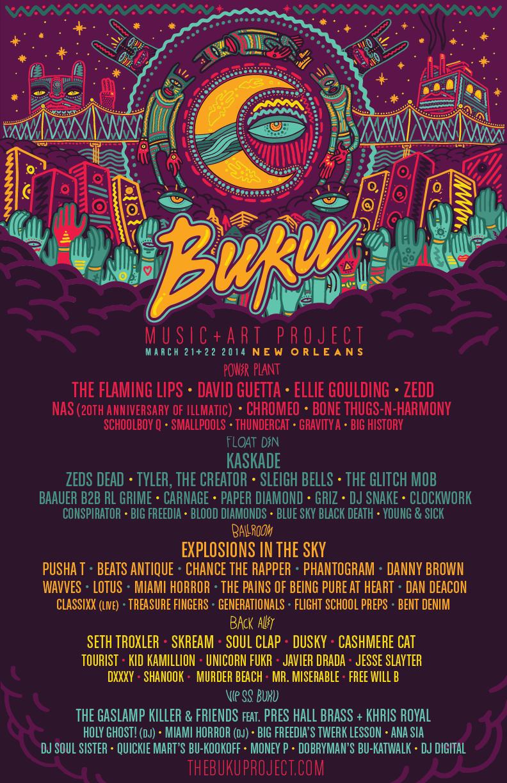 Buku 2014 final lineup