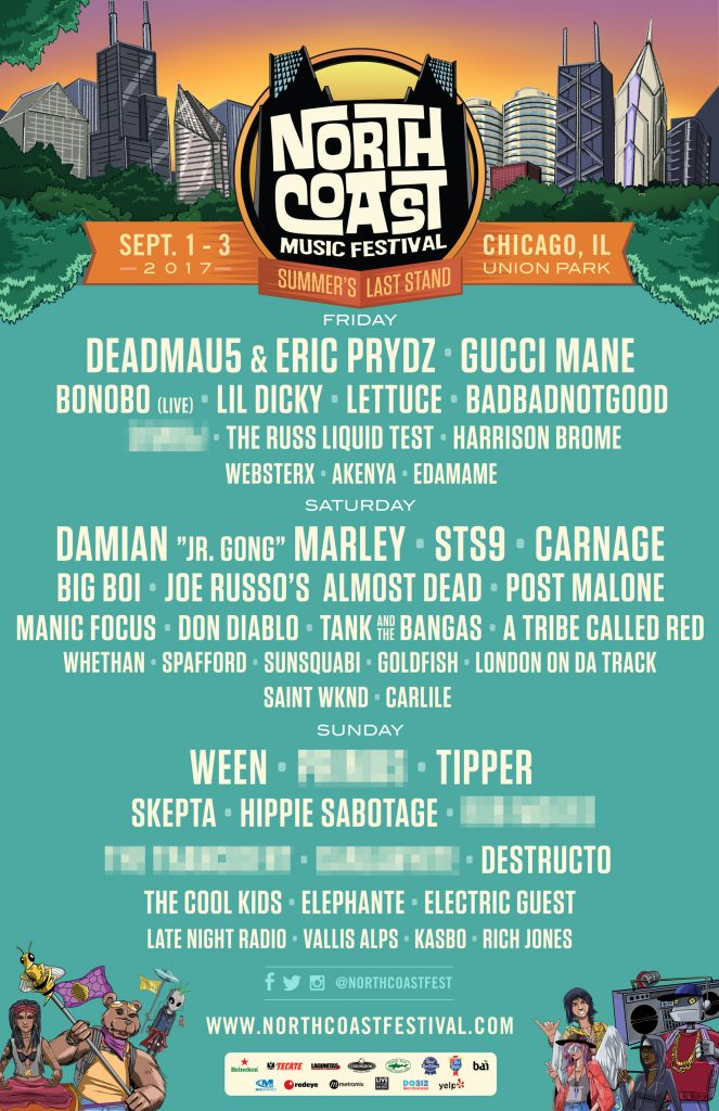 NCMF North Coast 2017 Lineup