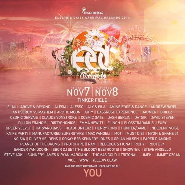 edc orlando 2014 lineup