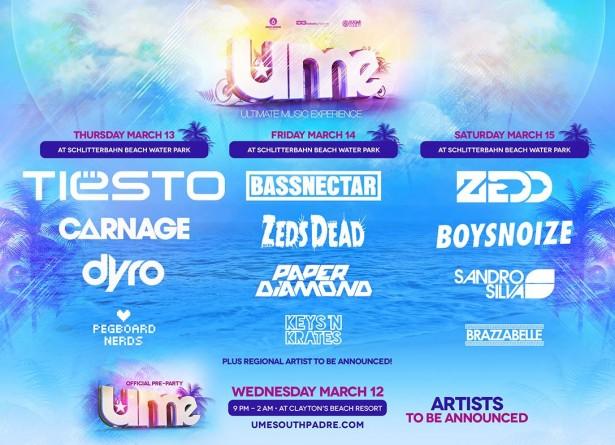 UME 2013 lineup