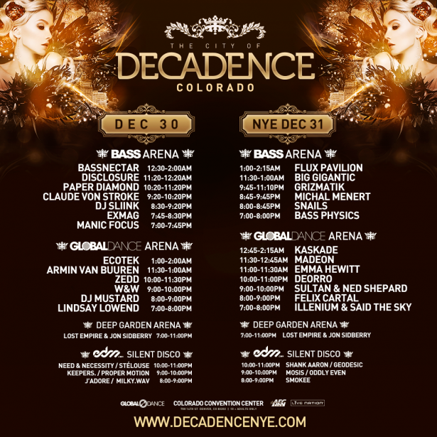 NYE: Decadence – Denver, Colo. tickets and lineup on Dec ...