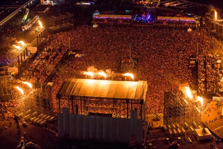 Las Vegas EDC main stage fire