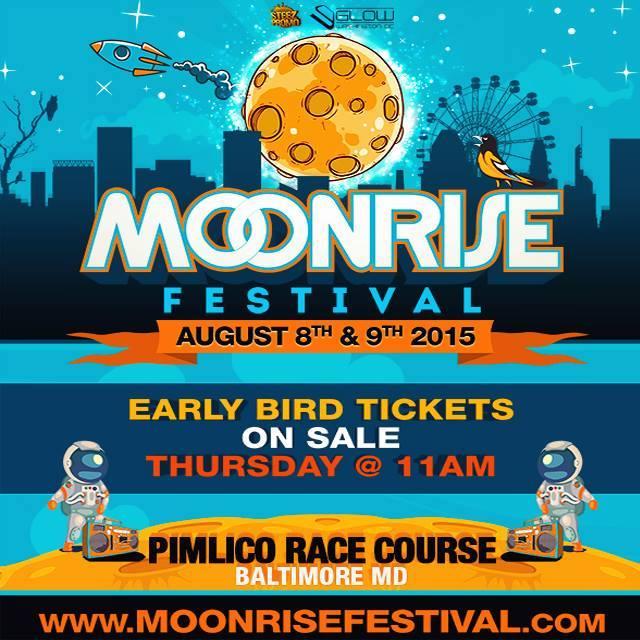 Lineup - Moonrise Festival Aug 8 & 9 2015 - Baltimore, MD