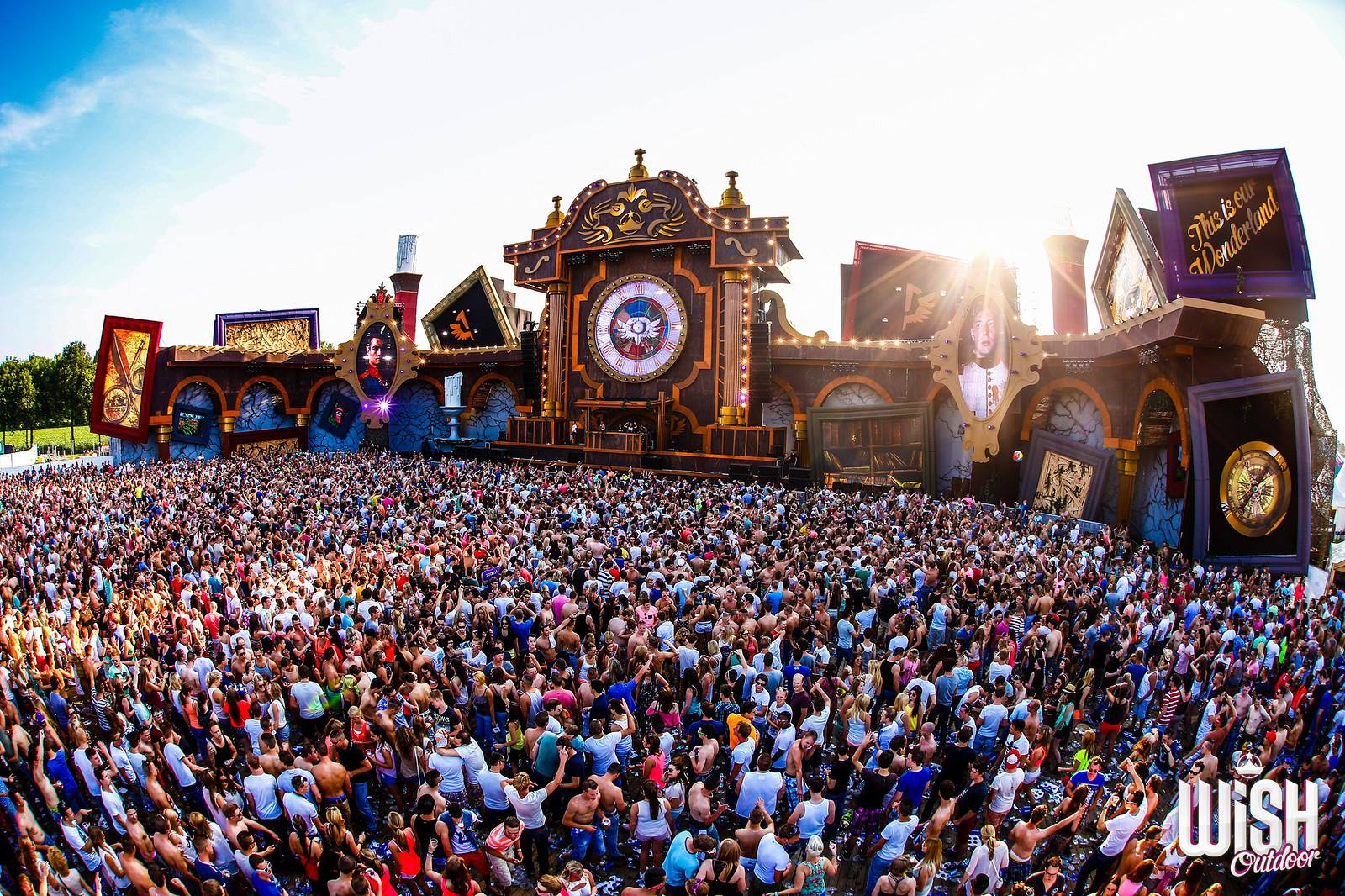 photos of beautiful EDM festival stage designs  Electronic Midwest