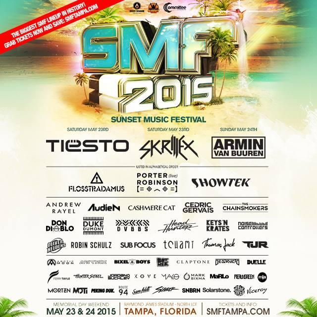 Sunset Music Festival 2015 lineup