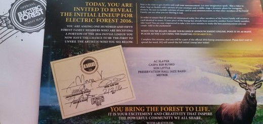 Electric Forest lineup reveal letter