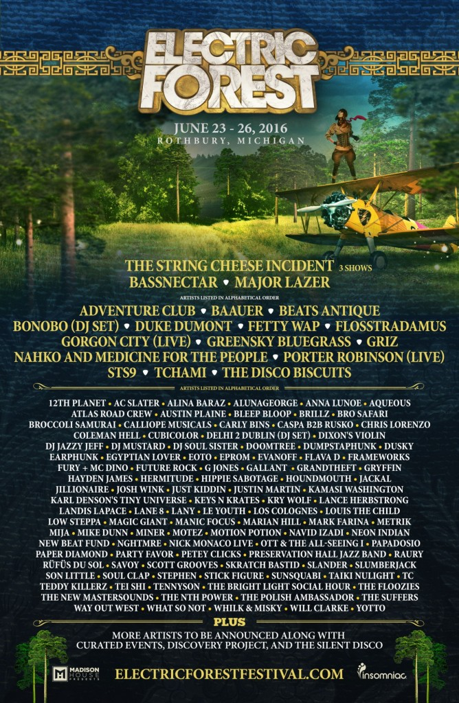 Electric Forest 2016 lineup phase 1