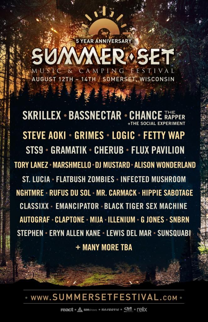 Summer Set 2016 lineup
