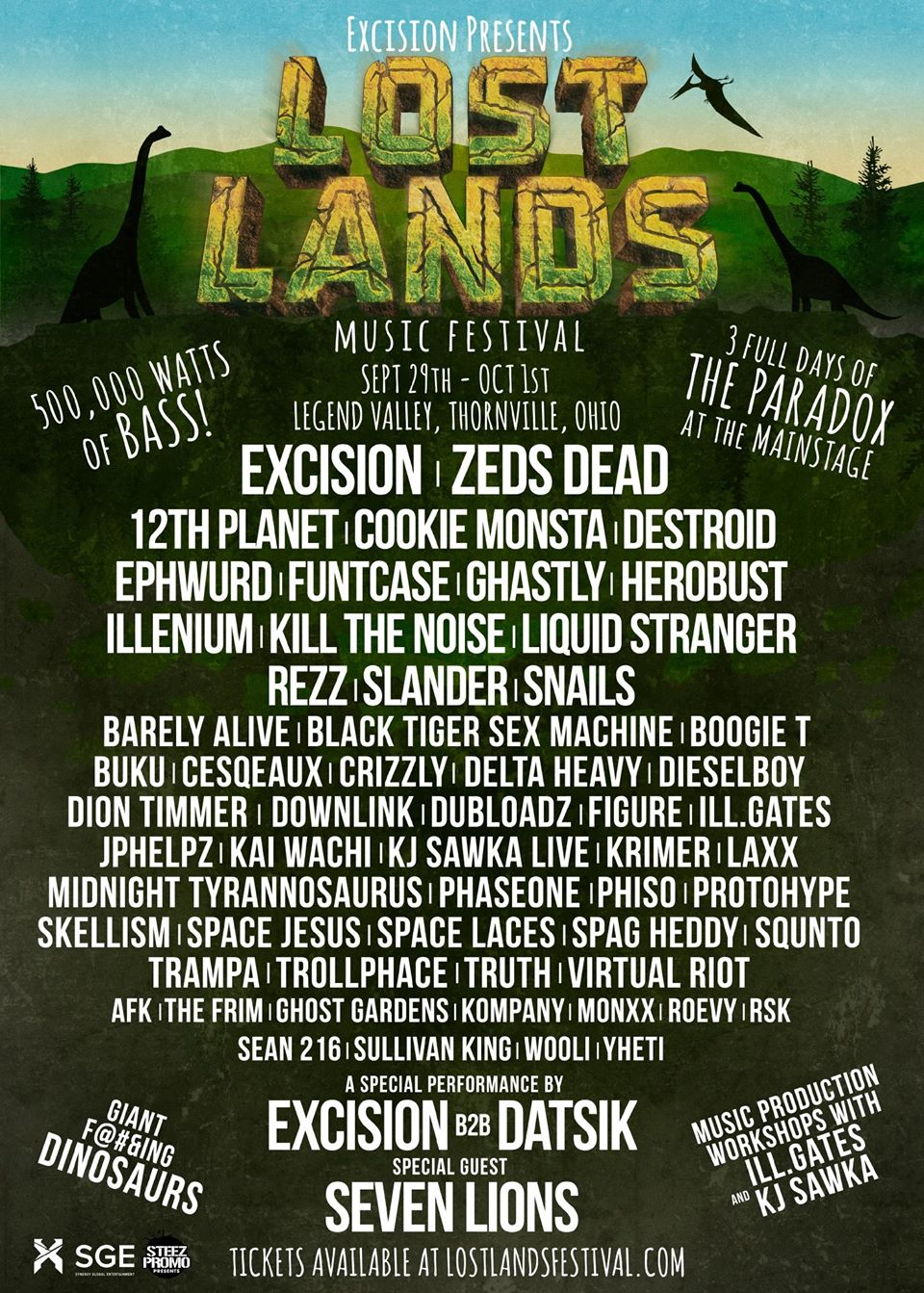 lost lands 2017 lineup