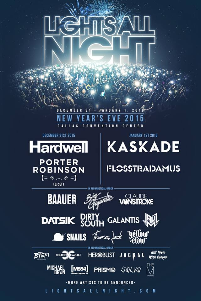 lights all night 2015 lineup
