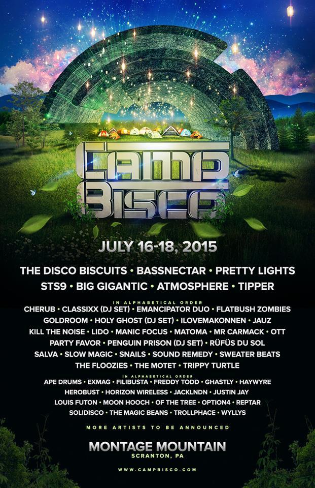 Camp Bisco 2015 lineup