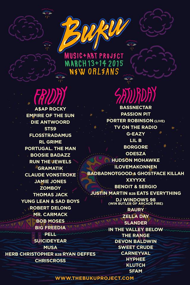 BUKU 2015 final lineup