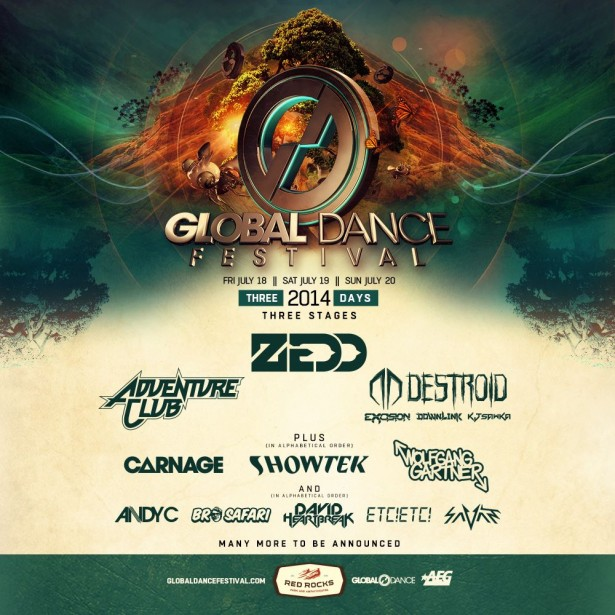 Global Dance Fest Colorado 2014 lineup initial