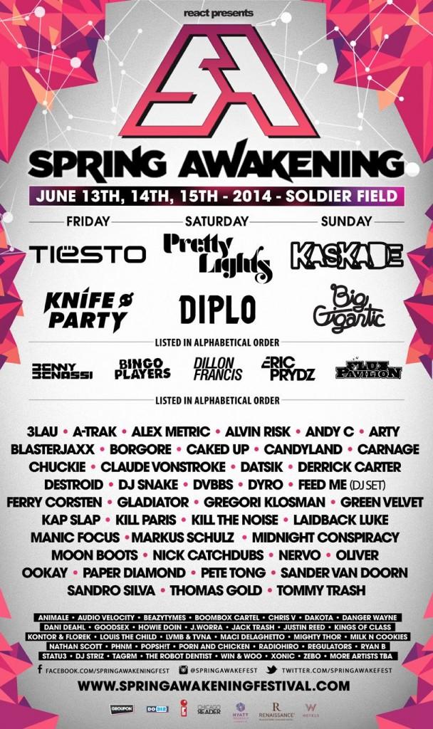 Spring Awakening lineup 2014