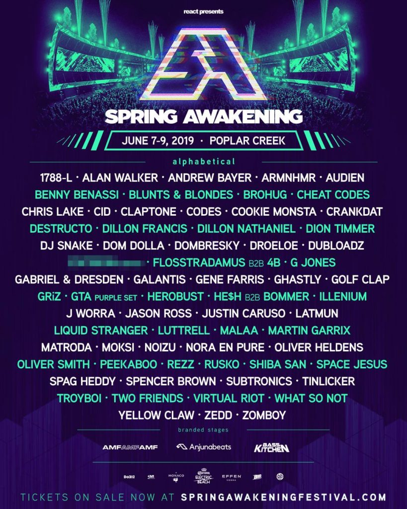 Chicago's Spring Awakening festival announces 2019 lineup