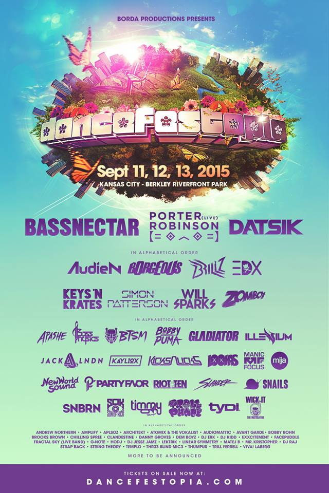 Dancefestopia 2015 lineup