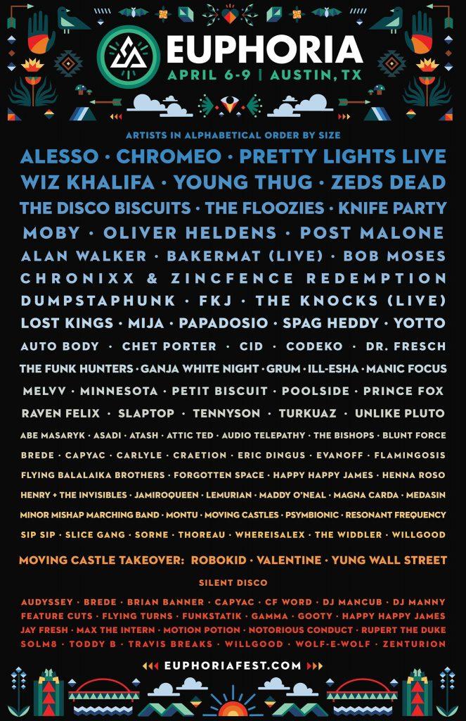 Euphoria 2017 lineup final