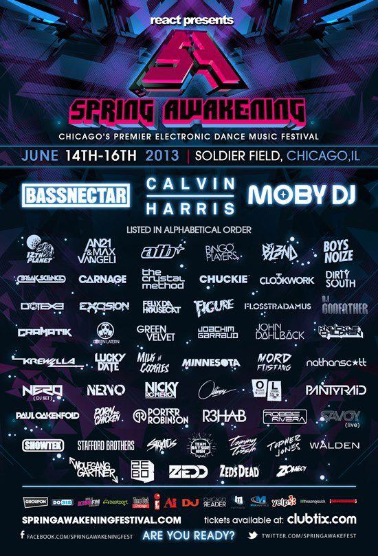 Spring Awakening 2013 Lineup Final