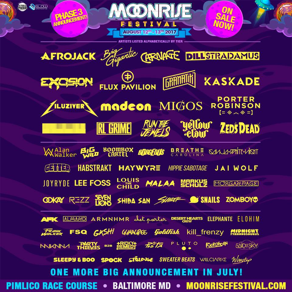 Festival: Moonrise – Baltimore, Md. tickets and lineup on Aug 11