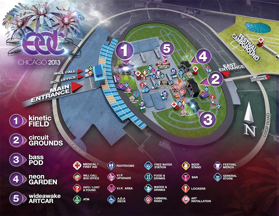 EDC Chicago map