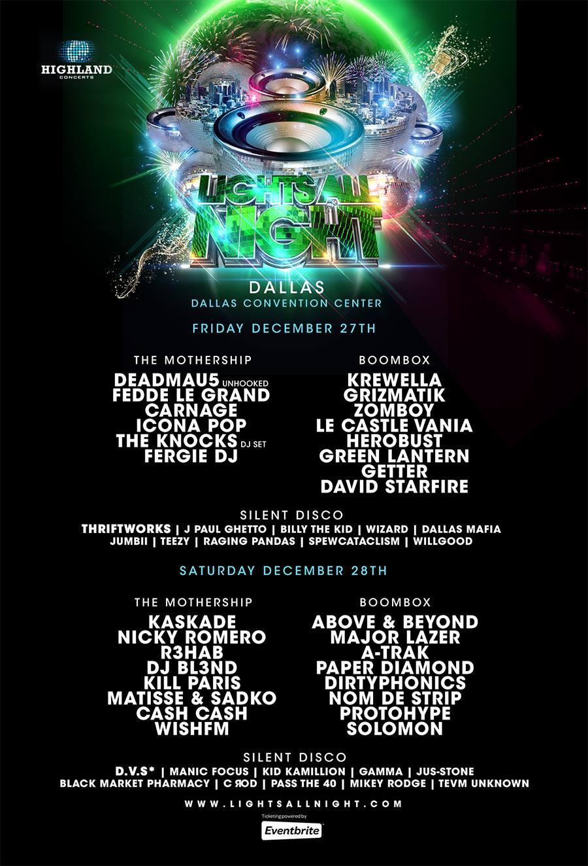 Lights All Night 2013 final lineup