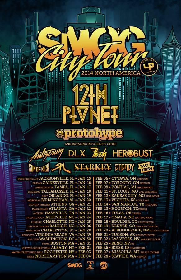 12th Planet SMOG City Tour 2014