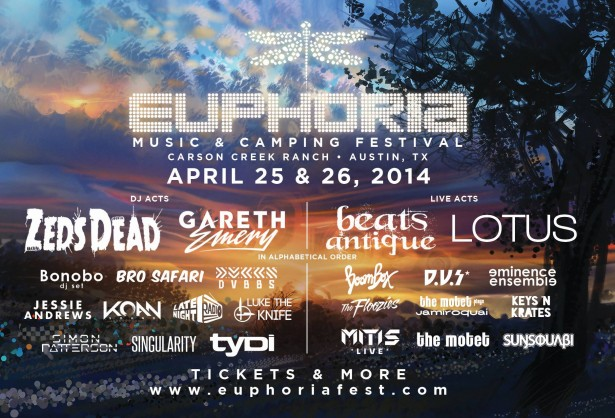 Euphoria 2014 lineup 1