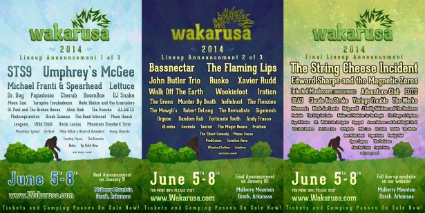 waka 2014 lineup posters