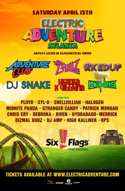 Electric Adventure 2014 Atlanta lineup