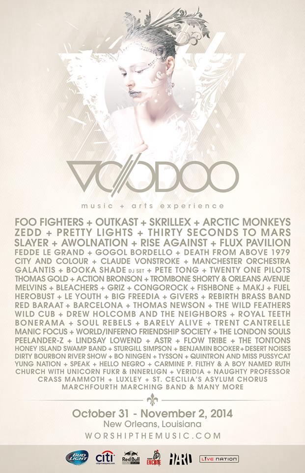 Voodoo 2014 lineup