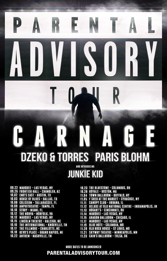 Carnage Parental Advisory tour schedule