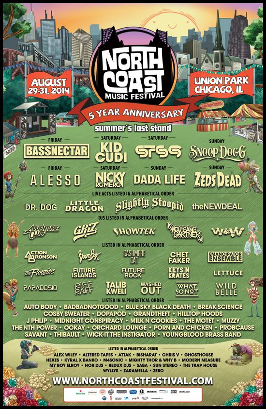 north coast 2014 lineujp