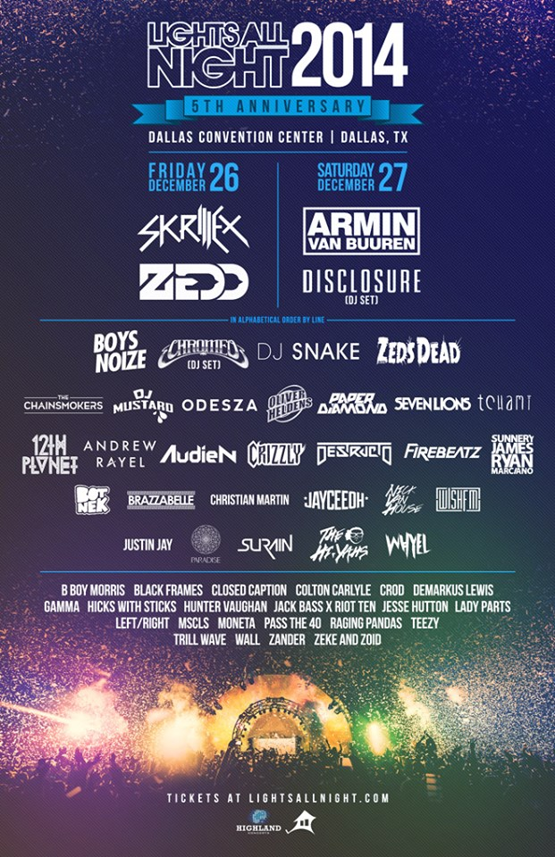 Lights All Night 2014 final lineup