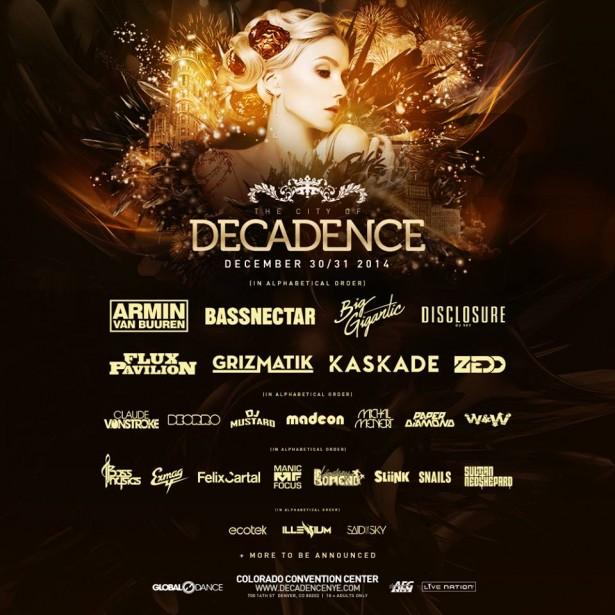Decadence 2014 final lineup