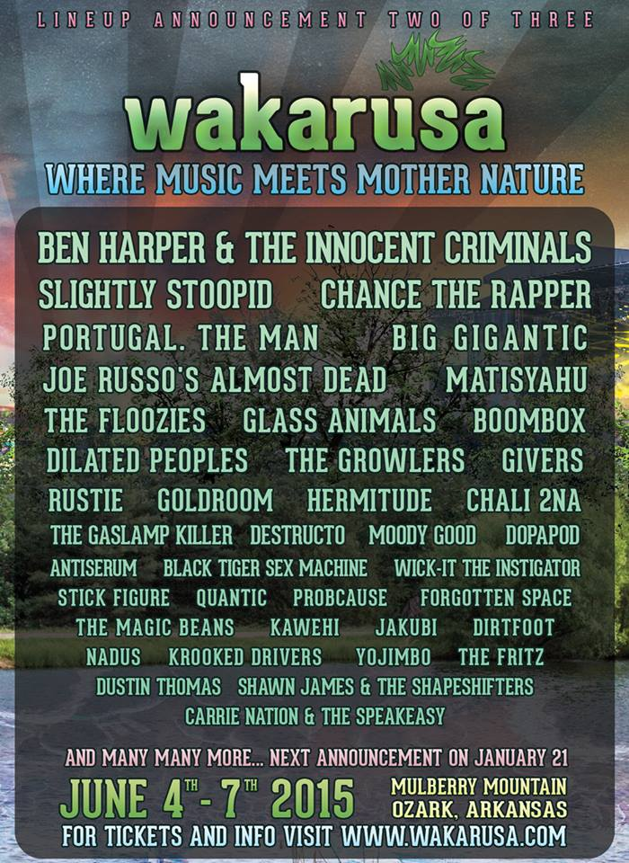 Wakarusa 2 of 3 lineup 2015