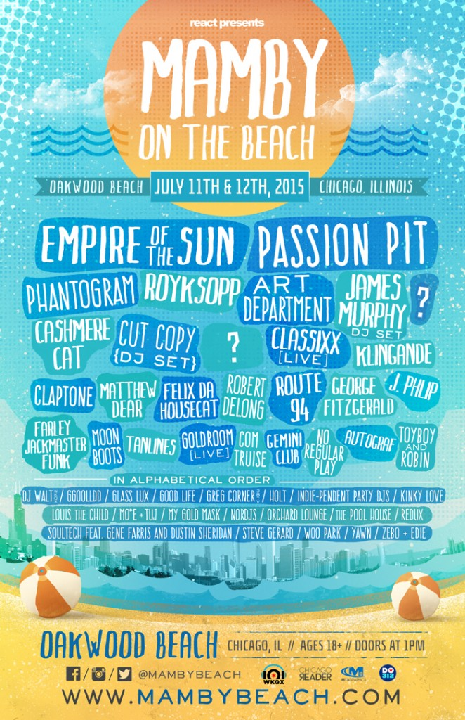 mamby on the beach 2015 lineup