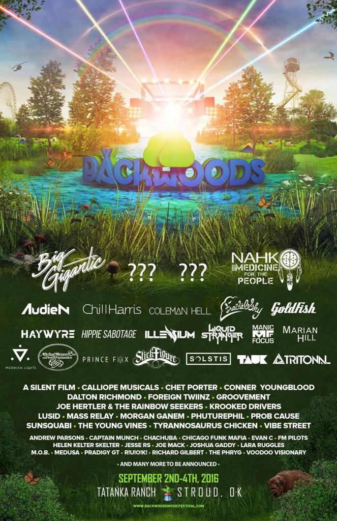 Backwoods Lineup phase one 2016