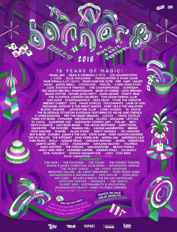Festival: Bonnaroo – Manchester, Tenn. tickets and lineup ...