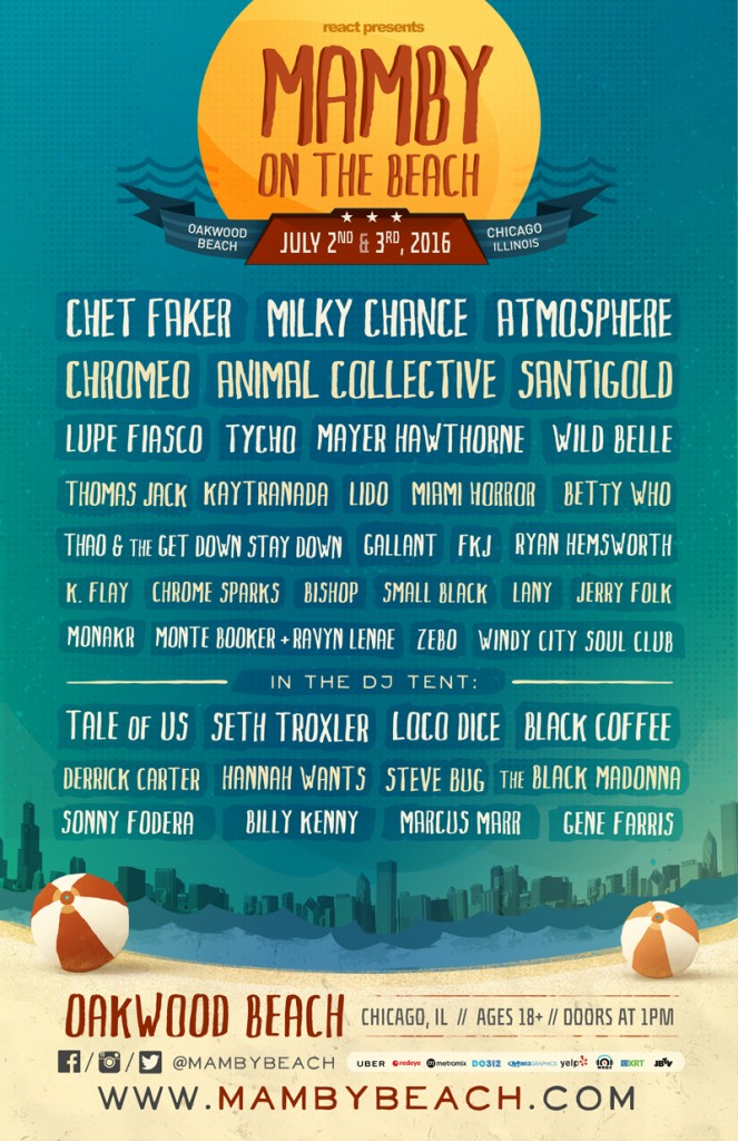 Mamby on the Bech 2016 lineup