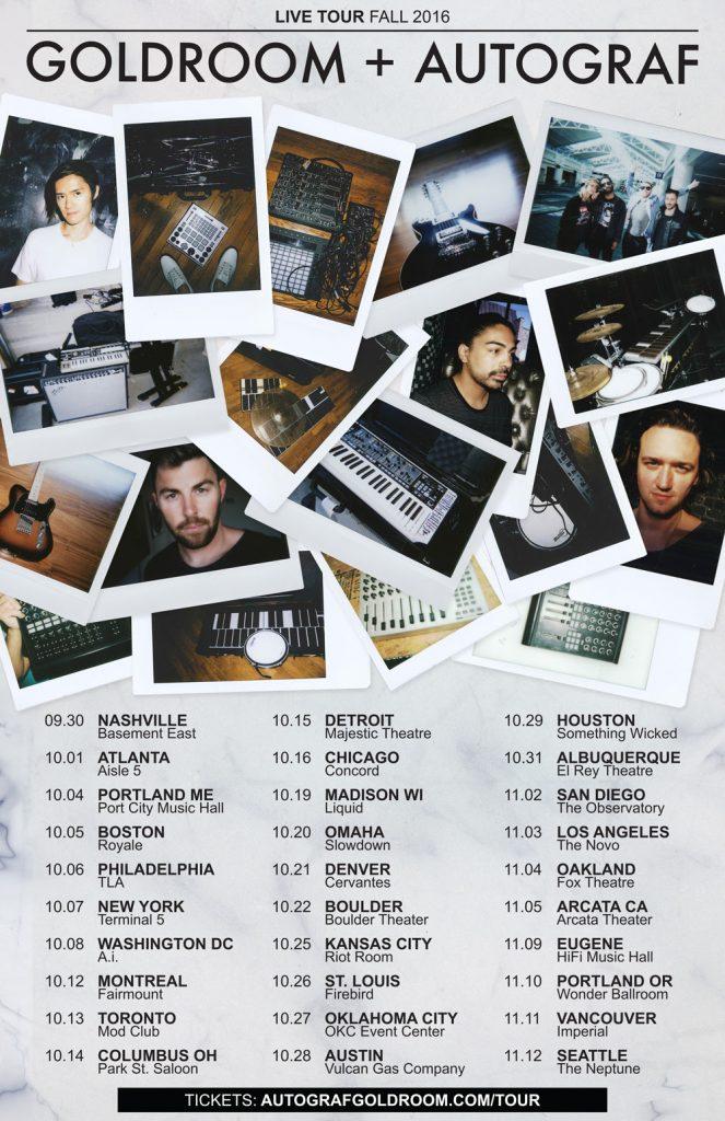 autograf+goldroom tour 2016