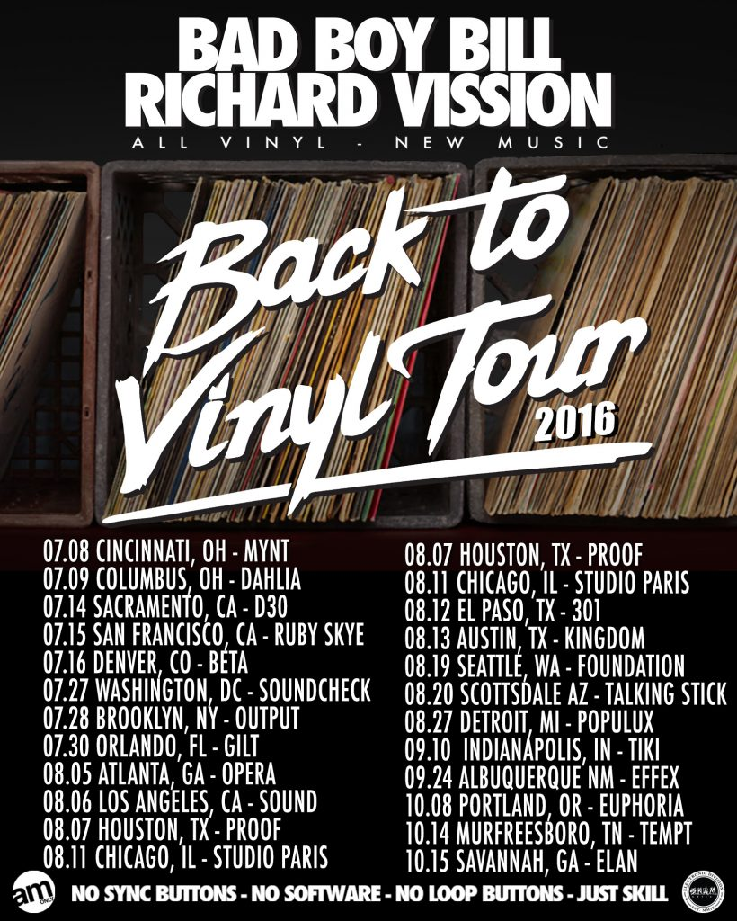 back to vinyl tour