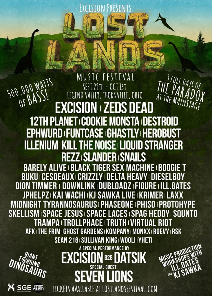 lost lands 2017 lineup